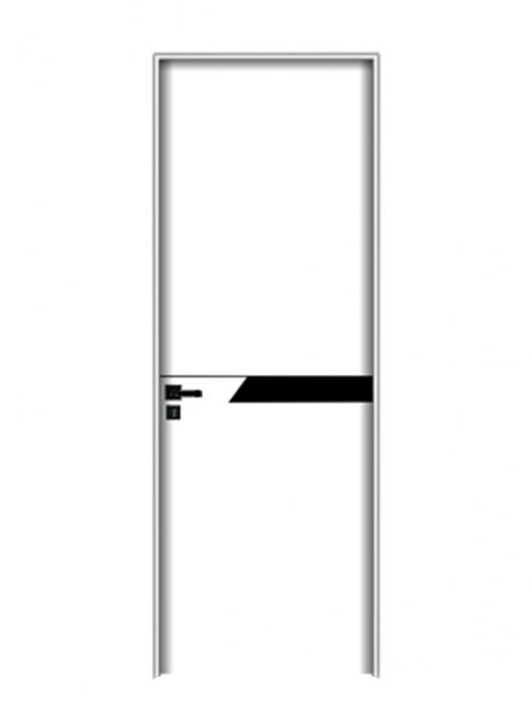 几何线条实木门